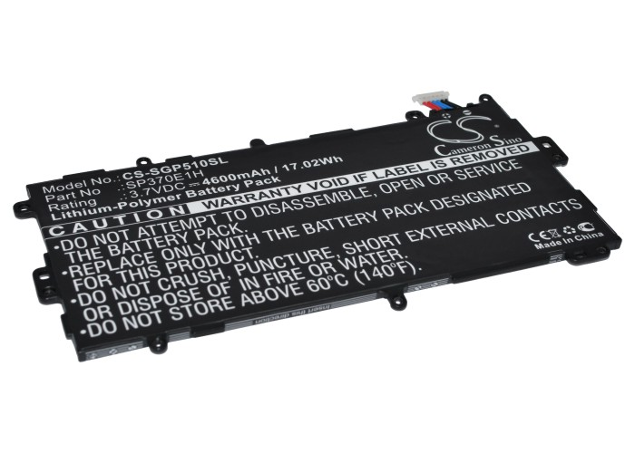 Samsung Batteri til Samsung Galaxy Note 8.0 32GB 3.7V 4600mAh SP3770E1H